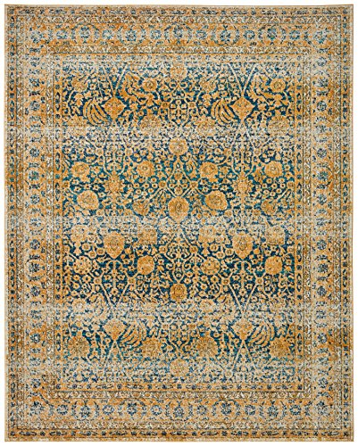 Rivet Gold and Blue Royalty Rug, 8' x 10', by Rivet