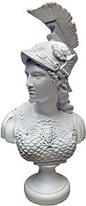 Design Toscano PD72521 Minerva, Roman Goddess of Wisdom Bust Statue, 13 Inch, White