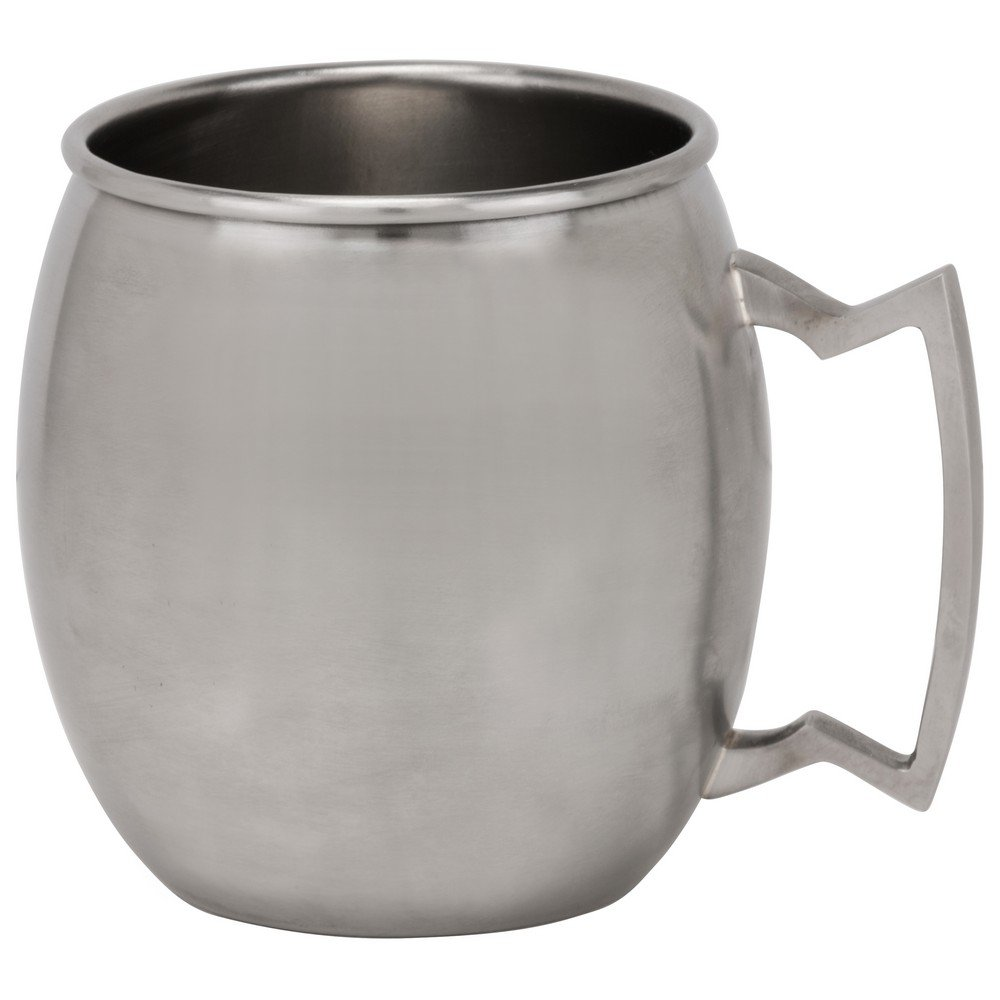 10 Strawberry Street Stainless Steel 16 Oz Moscow Mule Mug, Set of 2