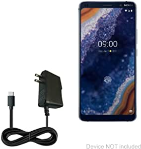 Turbo Fast 15W Car Charger Works for Nokia 9 PureView Includes Detachable Hi-Power USB Type-C Cable!