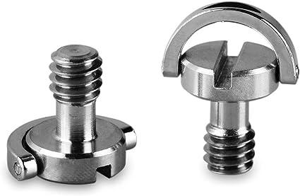 """SMALLRIG D in Acciaio Inox D-Ring 1//4/"""" Vite di Montaggio 0,57//14.5 mm Lungo 2 Pz"""
