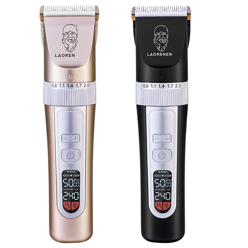 動物用剃毛装置、ペット用電動プッシュせん断機、ベビーバーバー、充電式/コードレス/、液晶ディスプレイ(:2pcs B07PB7TSP4 2pcs