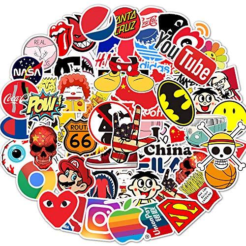 🥇 Brand Logo Stickers 100 Pack Decals for Laptop Computer Skateboard Water Bottles Car Teens Sticker