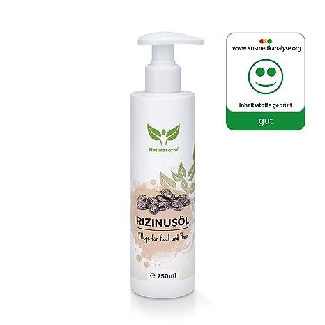 natural aforte puro rizinusöl 250 ml para cabello, cara, piel, clavos, prensado