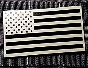Wolf Grey Nylon 3.5x2 Inch Infrared Ir Reflective Us Flag Patch Us Army Special Forces Green Beret CAG