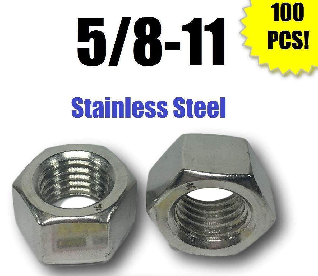 60 pcs 5//8 X 11 Plain Hex Head Lag Screw Bolts Steel