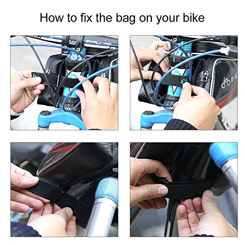 "Inbike 6"" Bike Top Tube Phone Bag, Waterproof Touch Screen Cellphone Case"