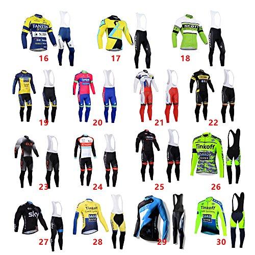 Air Hommes Cyclisme En Cuissard Longues S 29 Set Taille Sports Et Jersey À Manches Plein Gel 3xl Pad Logas Sq4X04