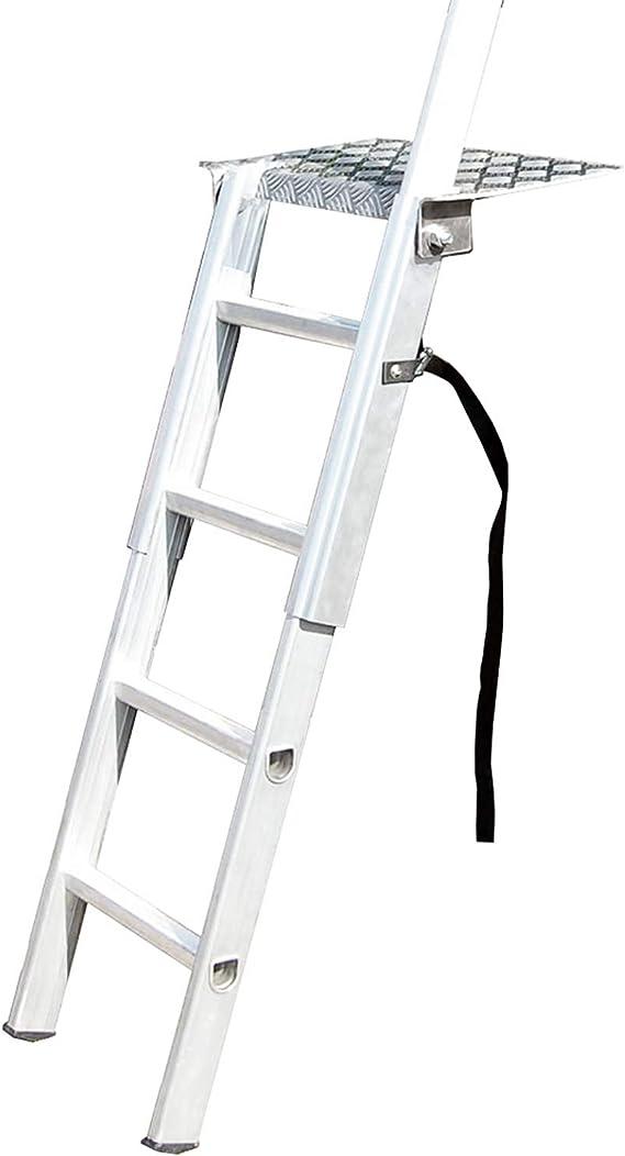 Loops Escalera de Plataforma de Carga de 1 m – 1,2 m – Escalera de Acceso para Remolque de vehículo de Aluminio Fuerte – Soporte y Bloqueo – Altura Ajustable para Furgoneta y camión: Amazon.es: Hogar