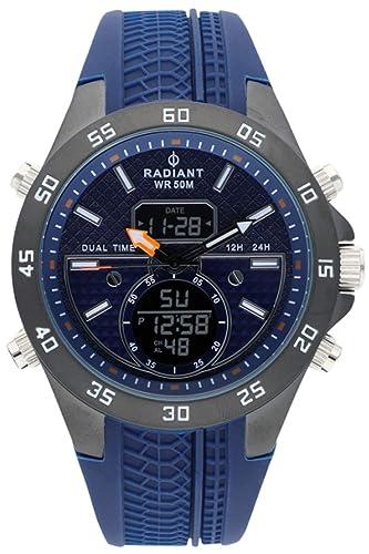 Radiant kibet Reloj para Hombre Analógico/Digital de Cuarzo con Brazalete de Goma RA484701: Amazon.es: Relojes