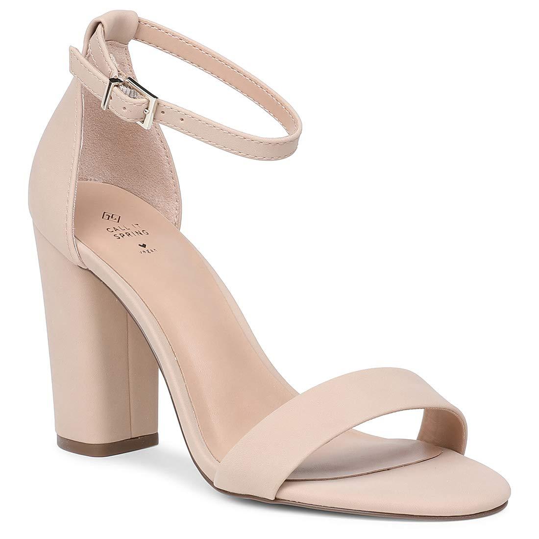 CALL IT SPRING Tayvia Grey Block Heels