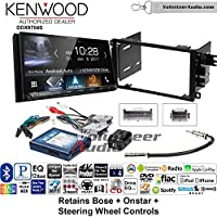 Volunteer Audio Kenwood DDX9704S Double Din Radio Install Kit with Apple Carplay Android Auto Fits 2003-2005 Chevrolet Blazer, 2003-2006 Silverado, Suburban (Bose, Onstar, SWC)