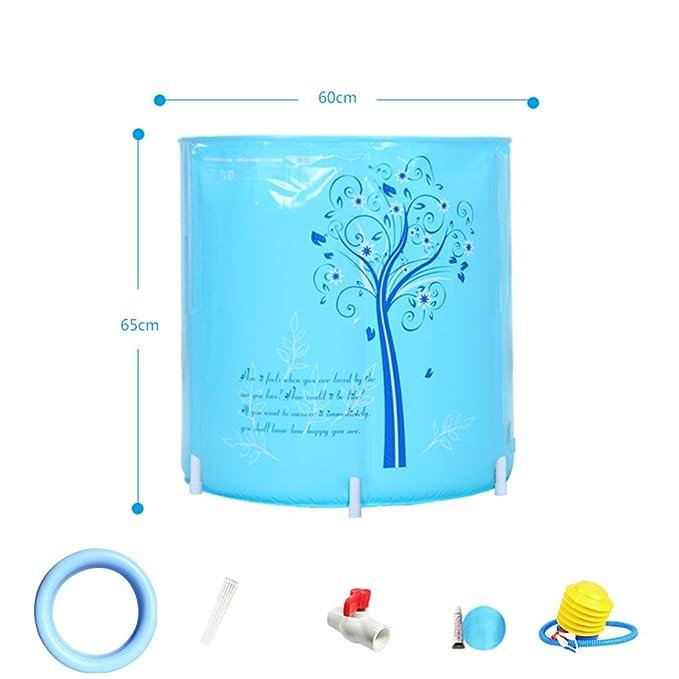 sunhai & plegable bañera inflable de bañera libre plástico lavabo bañera. Adultos bañera: Amazon.es: Hogar