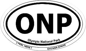 "Olympic National Park Oval car bumper sticker 5"" x 3"""