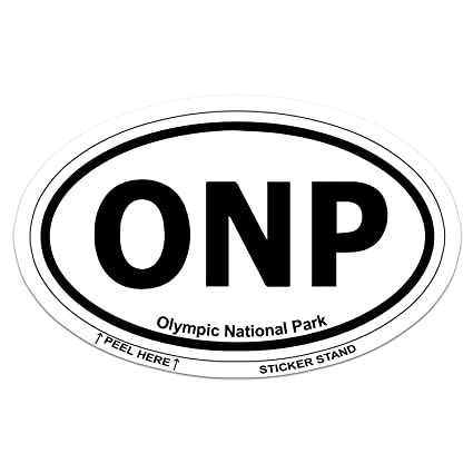 Olympic national park oval car bumper sticker 5