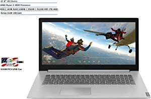 2019 Newest Lenovo PC IdeaPad L340: 17.3 HD Display, AMD Ryzen 5-3500, 16GB Ram, 1TB HDD WiFi, Bluetooth, DVDRW, USB-C, HDMI, Webcam, Dolby Audio, Win 10, 32GB USB Card