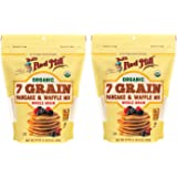 Bob's Red Mill Organic 7 Grain Pancake & Waffle Mix 24 oz (Two Pack) - Multigrain Organic Pancake and Waffle Mix - Double Pac