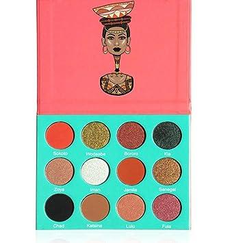 Amazon.com: pettstore 16 colores Cleopatra Shimmer Sombra de ...