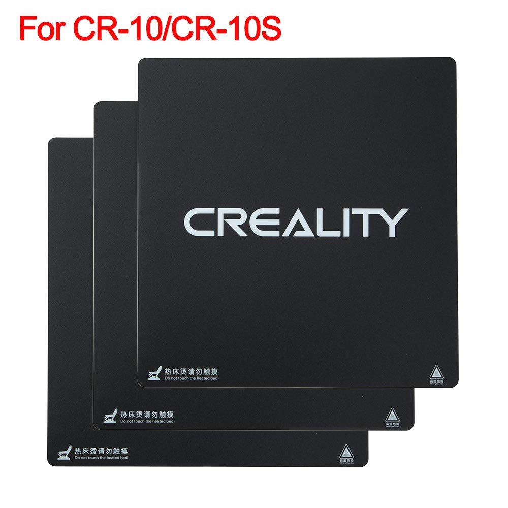 Pack of 3 Creality 3D Printer Build Surface Heat Bed Platform Sticker Sheet for CR-10,CR-10S 3D Printer 310X310MM