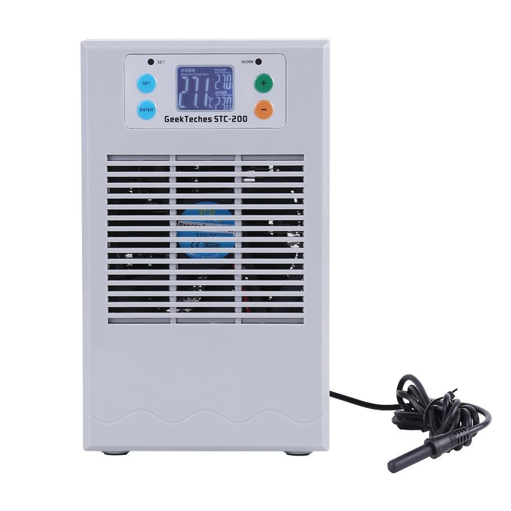 Xinrub Tanque de peces de refrigeració n por agua Má quina de calefacció n Regulador de temperatura digital Regulador de termostato para Acuario, Acuicultura e Invernadero(20L 70W)