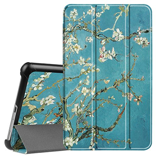Fintie Slim Shell Case for Samsung Galaxy Tab A 8.0 2017 Model T380/T385, Ultra Lightweight Standing Cover with Auto Sleep/Wake for Galaxy Tab A 8.0 Inch SM-T380/T385 2017 Release, Blossom (Samsung Galaxy Tab A 2017 Release Date)