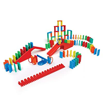 Bulk Dominoes Kinetic Toppling Kit 118pcs – Building and Stacking and Chain Reaction Toppling STEAM Toy Blocks for Kids: Toys & Games