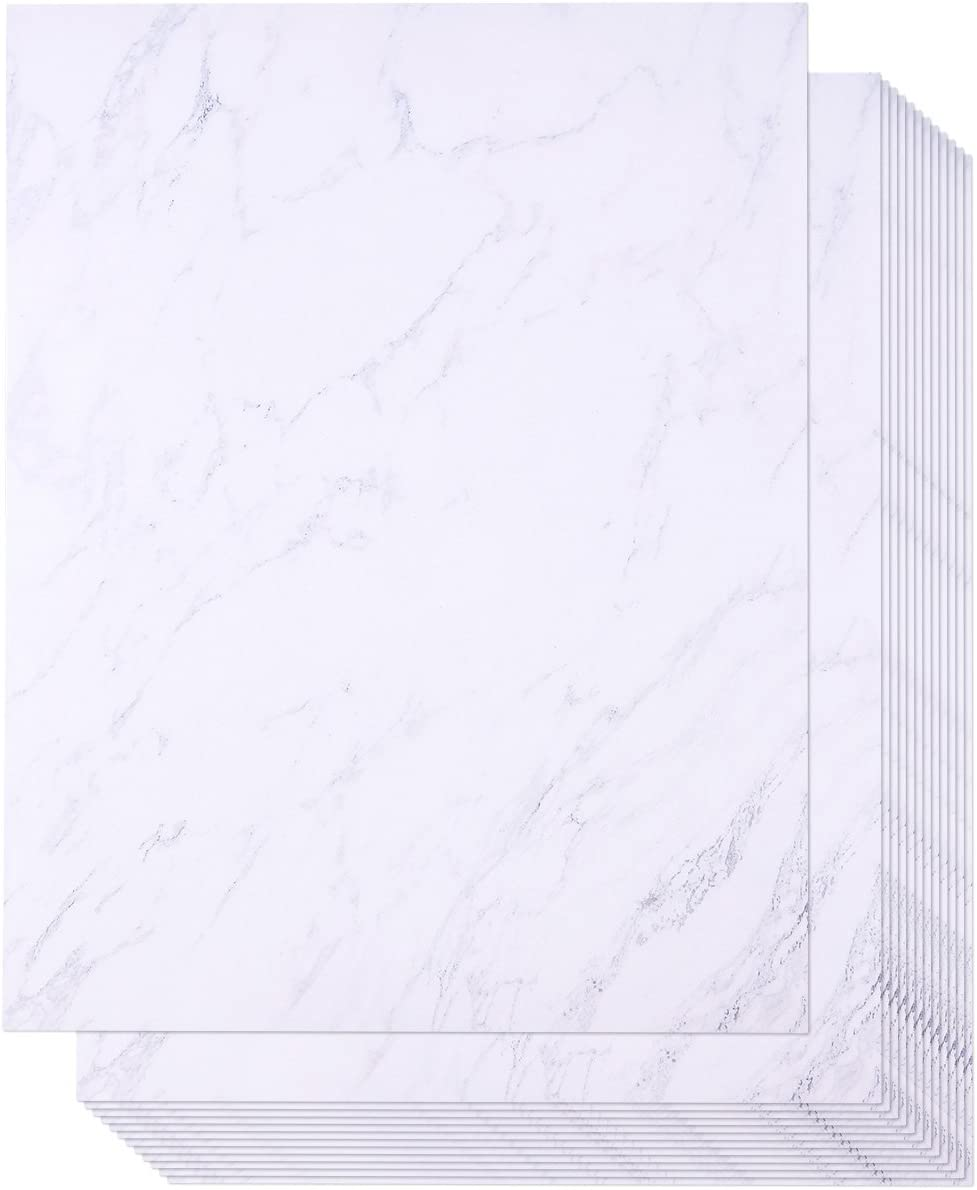 Marble Stationery Paper, Letter Size (8.5 x 11 in, 96 Sheets)