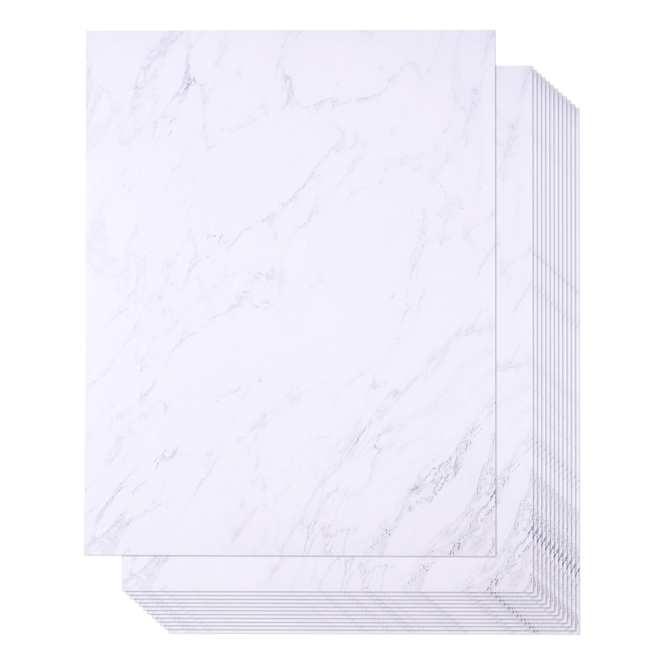 96 Pack Marble Stationery Paper - Letterhead - Decorative Design Paper - Double Sided - Printer Friendly, 8.5 x 11 Inch Letter Size Sheets by Juvale
