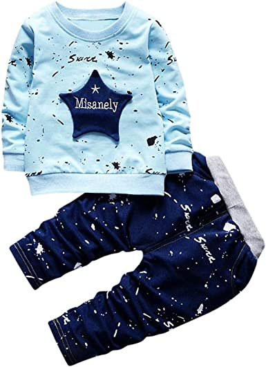 Toddler Kids Baby Girl Cotton Blend 2 Pcs Lace Ruffle Sleeveless Cartoon Print Shirts Top Jeans Pant Outfit Set