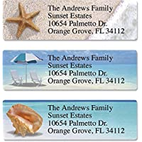 Calm Seas Personalized Return Address Labels – Set of 240, Small Self-Adhesive, Flat-Sheet Labels (8 Designs), by Colorful Images