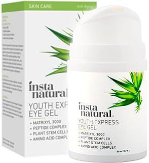 Gel para Ojos Antiedad InstaNatural - Combate arrugas, ojeras, líneas finas y enrojecimiento -