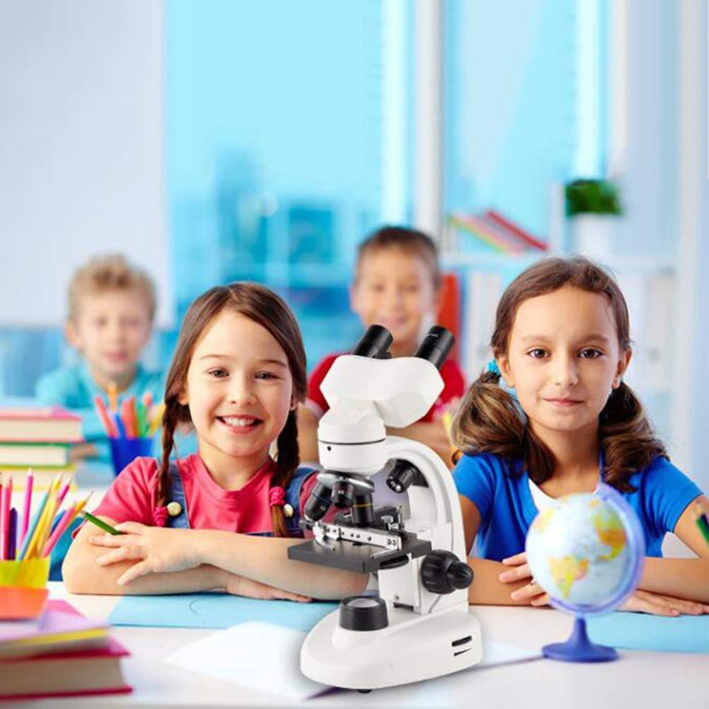 HD Microscopio Biologico 6-Color Wheel Filtro//LED E La Regolazione della Luminosit/à Fonte Gi/ù Luce Kexia Microscopio Binoculare 4X // 16X // 40X Acromatico Lente Dellobiettivo