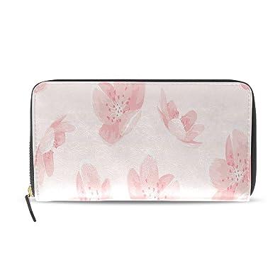 Pink Cheery Blossom Flor Sakura Pasaporte largo Bolsos mano ...