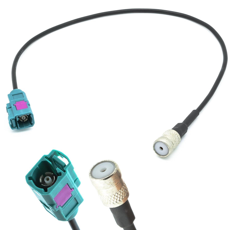 Adapter-Universe adaptateur d'antenne extension 20cm prise Fakra vers ISO 50Ohm prise Fiche antenne de voiture pour universel hot sale