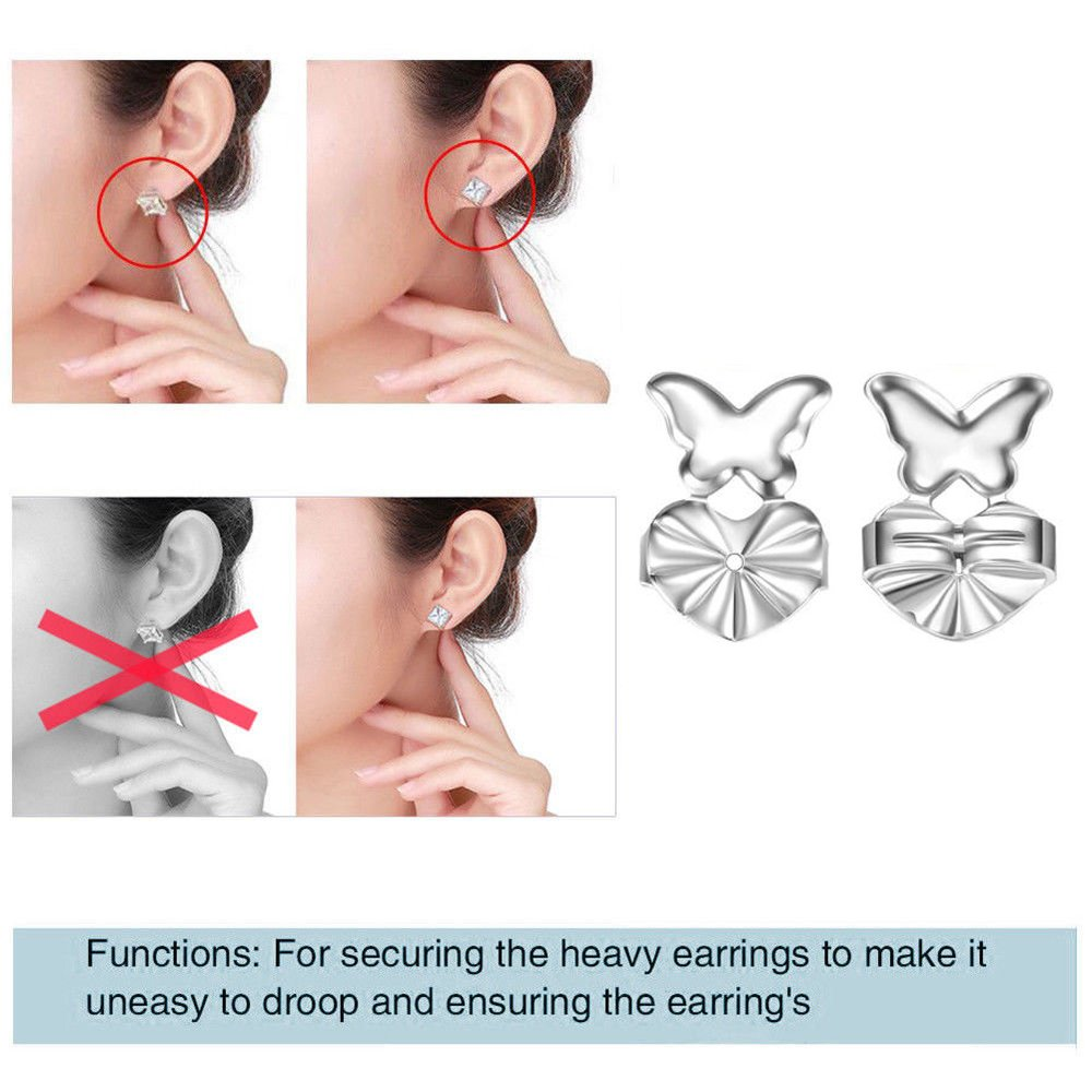 An-sell 2018 Magic Earring espaldas Levantadores Pendientes chapados en oro Accesorios de la joyería del oído (Oro)