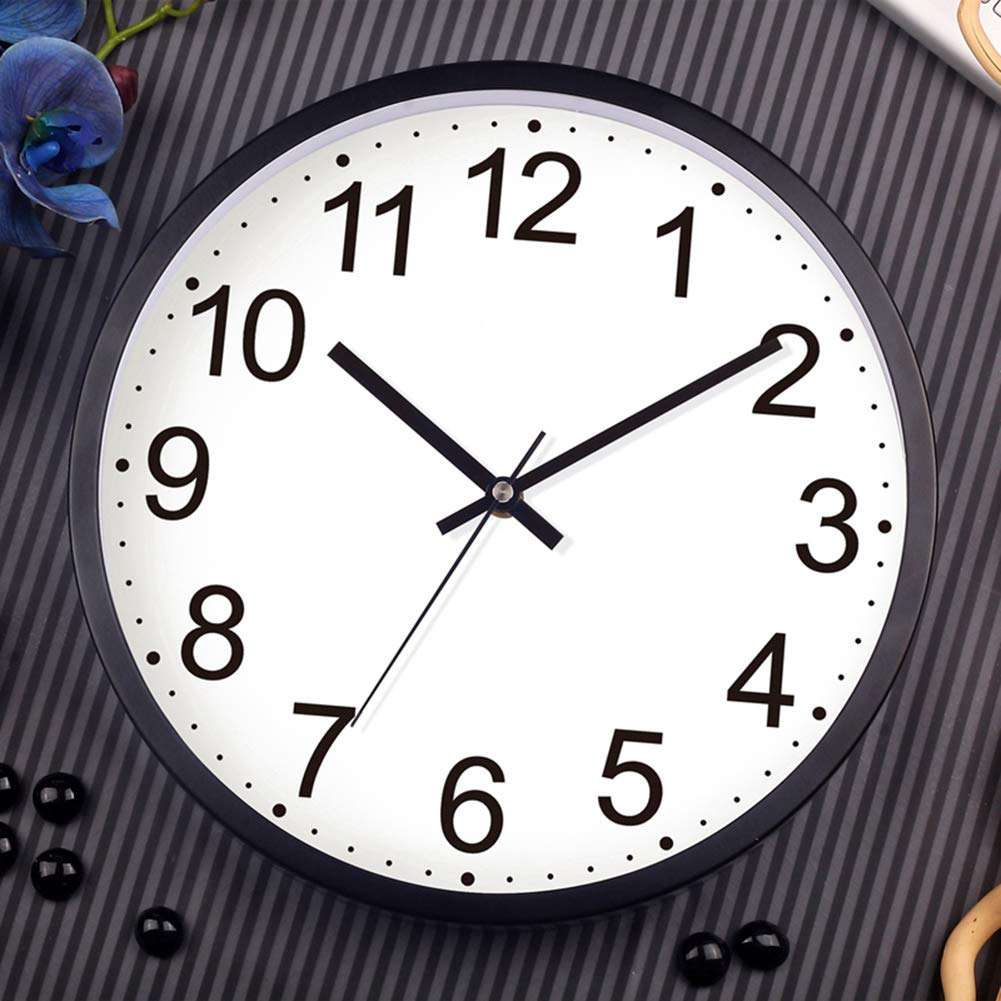 Black and White Tosnail 12-Inch Silent Non-ticking Wall Clock