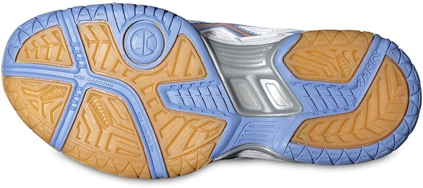 Asics GEL-FLARE 5 GS - Zapatillas de running para niños (C40RQ), Unisex para niños, White / Blue Atoll / Fiery Coral, 37 1/2: Amazon.es: Deportes y aire libre