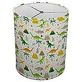 Hardback Linen Drum Cylinder Lamp Shade 8'' x 8'' x 8'' Spider Construction [ Happy Kids Dinosaur ]
