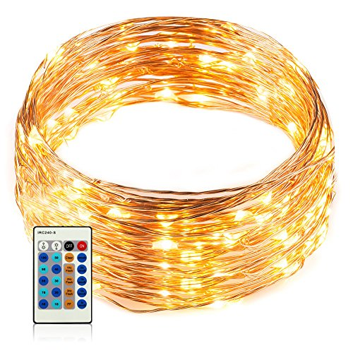 Led Rope Light Adhesive: Zacro 33ft 100 Outdoor Led String Lights And Pack Of 40