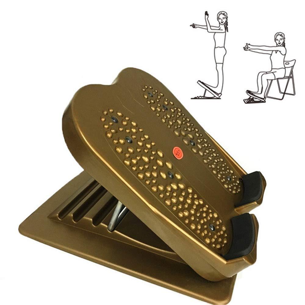 Grist CC Yoga-Stretchboard-Fitnessgeräte, geneigte Platte zum Aufwärmen vor dem Training, Massagefuß,Braun