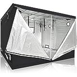 120x120x78in/10x10x6.5ft Xlarge Non-toxic 600D Mylar Reflective Grow Tent Hydroponic Dark Room Box Hut