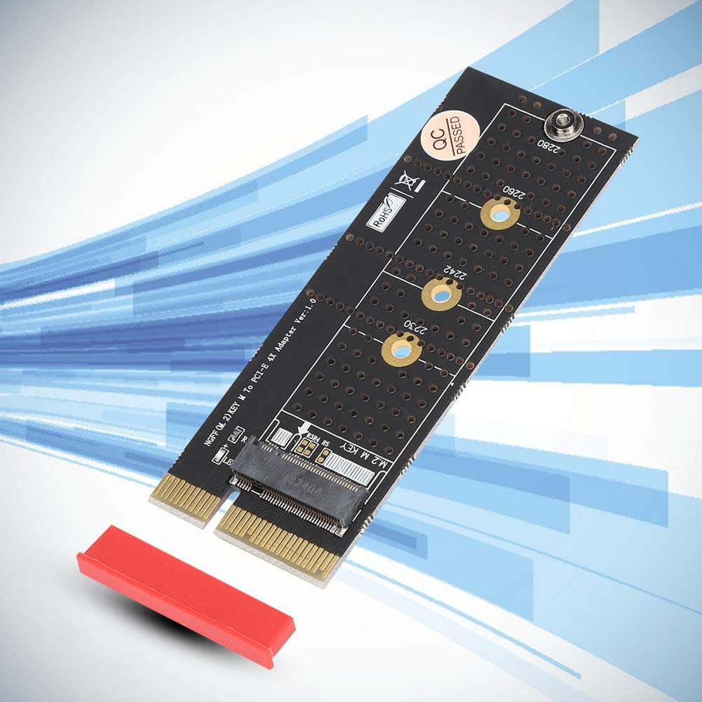 ASHATA PCI E Riser Card,M.2 Nvme Key M SSD to PCI E 4X Vertical Riser Card with Heat Sink for M.2 2230//2242 2260//2280