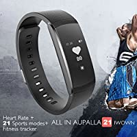 AUPALLA iWOWNFit i6 pro Activity Tracker Smart Bracelet Work With Heart Rate Monitor 21 Multi-Sports Modes Sleep Monitor Calories Burns GPS Calendar Alarm Support iPhone Android Smartphone