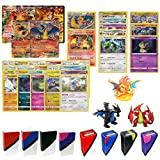 Pokemon Cards Charizard Lot with Charizard EX and Charizard Rare GUARANTEED - Also includes 3 Foil Rares, 5 Foil Cards, 20 Regular Pokemon Cards, Charizard Figure, TopDeck Deck Box and Mini Binder