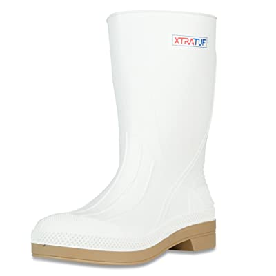 "XTRATUF 11"" Men's PVC Shrimp Boots, White (75136): Home Improvement"
