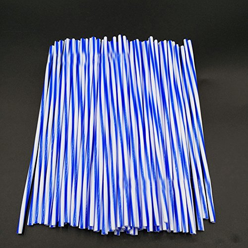 Wire Wheels Spoke Motorcycle (Ocamo 72Pcs Two-Color Steel Wire Set Wheel Spoke Wraps Skins Trim Cover Pipe for Motorcycle Bike 240mm Main Blue with White line)