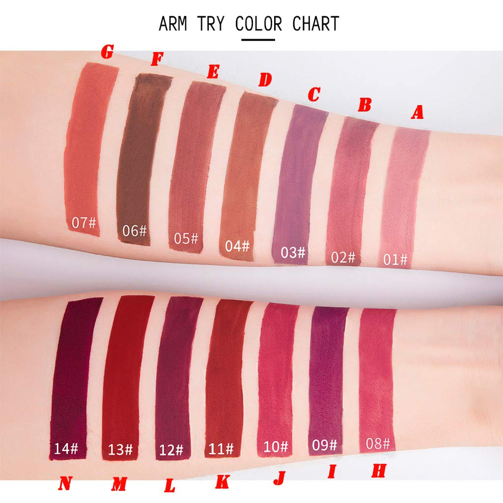 At Baby Lipliner,Double-end Lasting Lipliner Waterproof Lip Liner Stick Pencil 14 Colors Lipstick (K) by At Baby (Image #3)