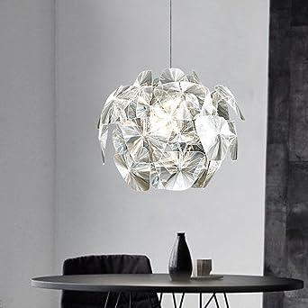 CUICAN Modern Pendelleuchte Einfache Acryl Laser Kreativ Licht Nordische Wohnzimmer  Schlafzimmer Dekoration Leuchte A