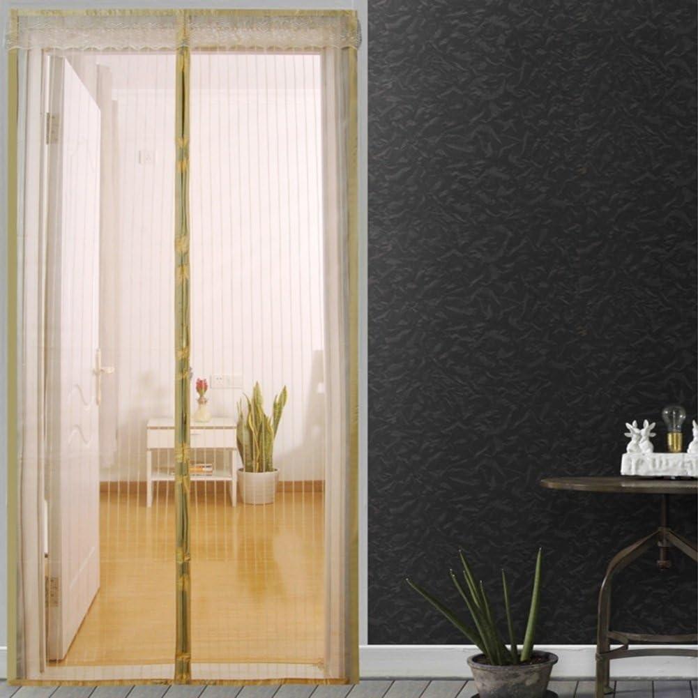 Mosquitera Magnético de la malla puerta del velcro Marco completo velcro Malla mosquitera-B 80x210cm(31x83inch) 80x210cm(31x83inch): Amazon.es: Bricolaje y herramientas