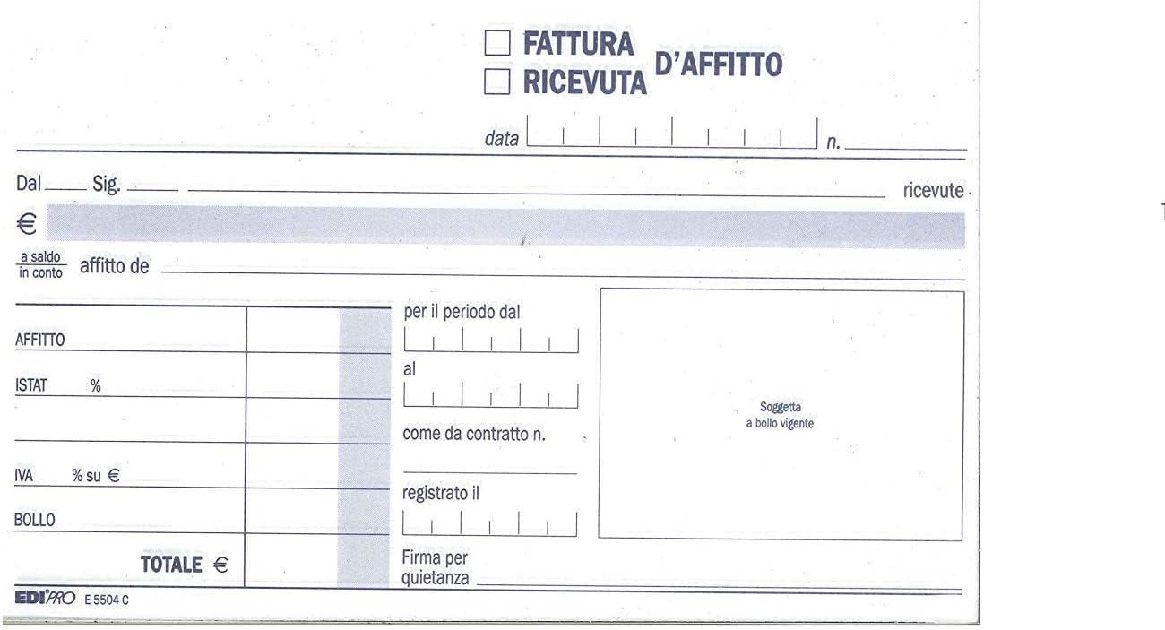 EDIPRO Cf10blocco Ricevuta Affitto 50x2ric